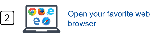 Step 2 - Open your favorite web browser
